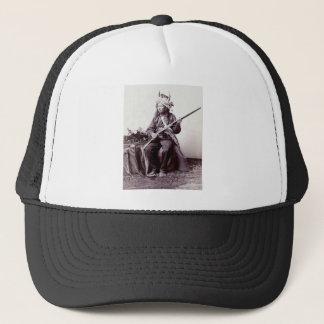 Casquette Portrait vintage de guerrier de Natif américain