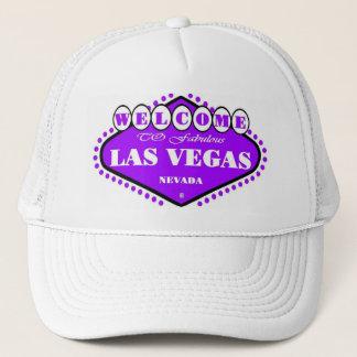 Casquette pourpre LUMINEUX de signe de Las Vegas