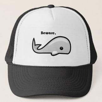 Casquette Prenez garde de la bande dessinée de baleine