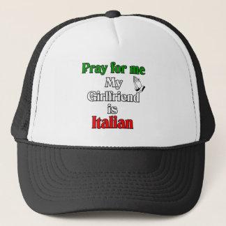 Casquette Priez pour moi que mon amie est italienne
