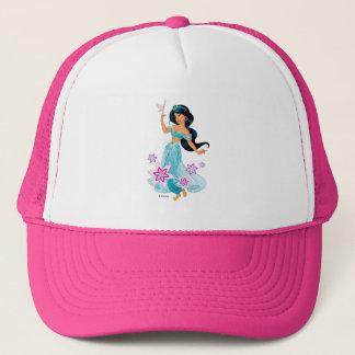 Casquette Princesse Jasmine avec l'oiseau floral