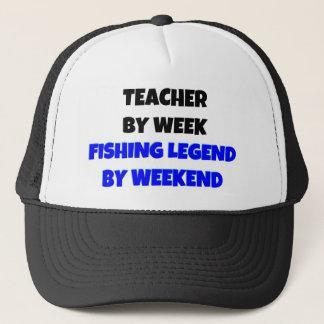 Casquette Professeur par légende de pêche de semaine par