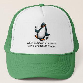 Casquette Quand dans le pingouin drôle de danger