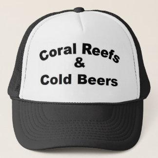 Casquette Récifs coraliens et bière froide