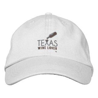 Casquette réglable d'amateur de vin du Texas