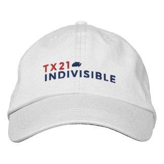 Casquette réglable de blanc brodé avec le logo casquette brodée