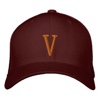 Casquette réglable décoré d'un monogramme de V