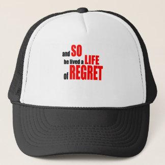 Casquette regret de la vie regrettant raillant choic faux de