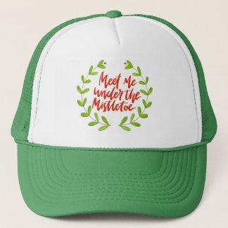 Casquette Rencontrez-moi sous le gui - guirlande de Noël