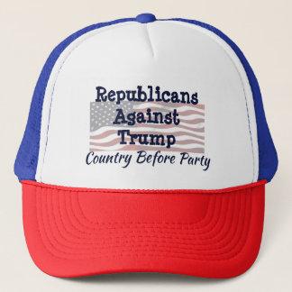 Casquette Républicains contre l'atout, pays devant partie