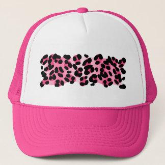 Casquette Rétro empreinte de léopard rose