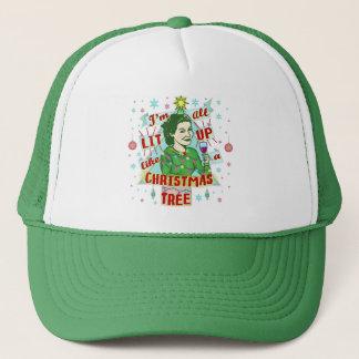 Casquette Rétro Lit potable de femme d'humour de Noël drôle