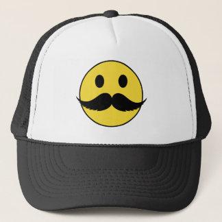 Casquette Rétro smiley noir drôle de moustache de guidon