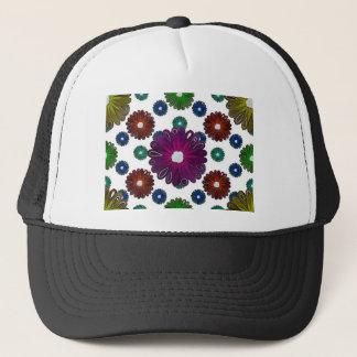 Casquette rétros fleurs inspirées colorées lumineuses
