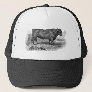 Casquette Rétros taureaux de vache de 1800s à illustration