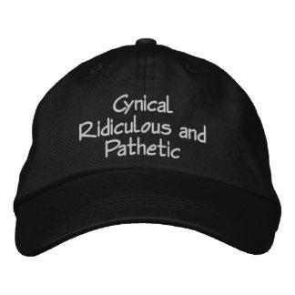 Casquette ridicule et pathétique cynique par la casquette brodée