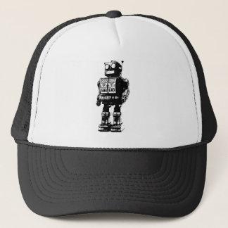 Casquette Robot vintage noir et blanc