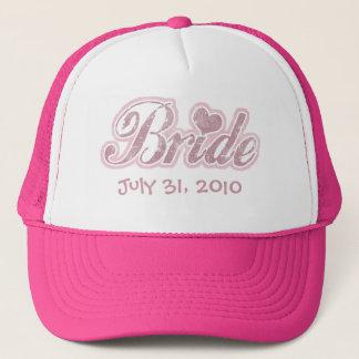Casquette Rose cursif de jeune mariée