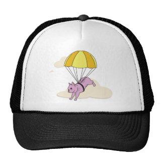 Casquette rose d'amusement de parapluie de