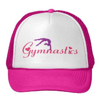 Casquette rose de gymnastique