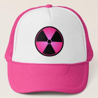 Casquette rose de symbole de rayonnement