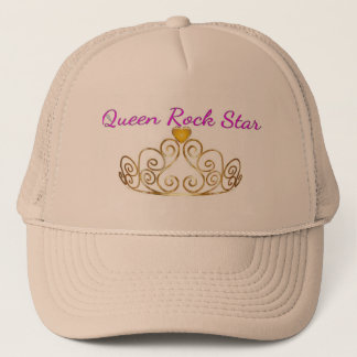 Casquette rose d'or de la Reine Rockstar