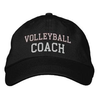 Casquette rose et blanc d'entraîneur de volleyball casquette brodée