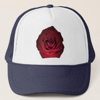 Casquette Rose rouge sur le bleu marine