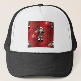 Casquette rouge africain de Claus de léopard de père Noël
