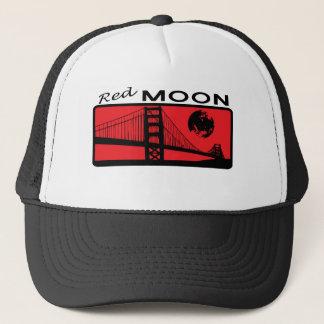 Casquette rouge de camionneur de lune
