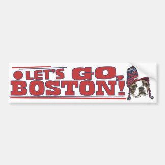 Casquette rouge de fan impressionnante de Boston Autocollant De Voiture