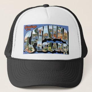 Casquette Salutations d'île de Catalina, la Californie rétro