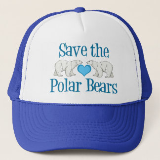 Casquette Sauvez le blanc bleu mignon d'ours blancs