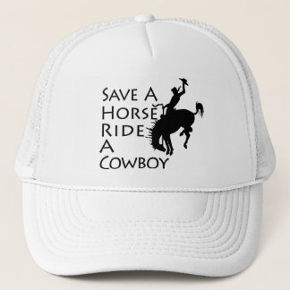 Casquette Sauvez un tour de cheval un cowboy
