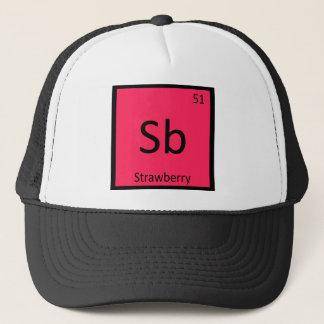 Casquette Sb - Tableau périodique de chimie de fruit de
