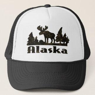 Casquette Scène d'Alaska colorée mono d'orignaux