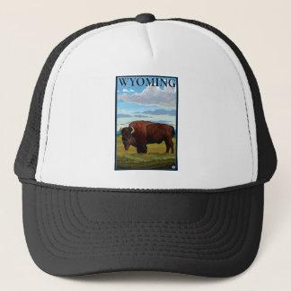 Casquette Scène de bison - Wyoming