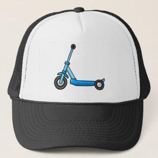 Casquette Scooter bleu de coup-de-pied/poussée de bande