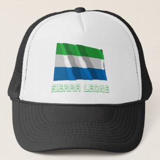 Casquette Sierra Leone ondulant le drapeau avec le nom