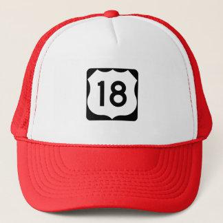 Casquette Signe de l'itinéraire 18 des USA