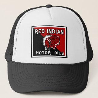 Casquette Signe indien rouge de cru d'huiles de moteur
