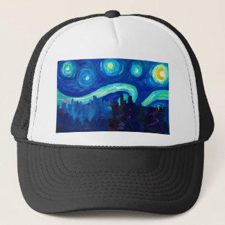 Casquette Silhouette d'horizon de Denver la nuit étoilé