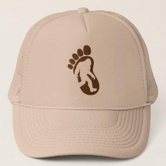 Casquette Silhouette Sasquatch d'empreinte de pas de Bigfoot