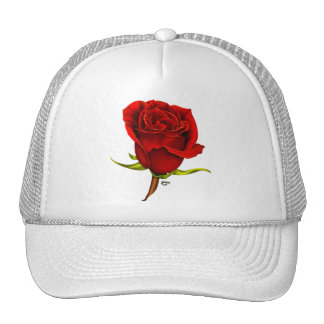 Casquette simple de rose rouge