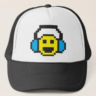Casquette Smiley DJ de pixel