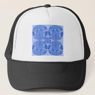 Casquette Sphères psychédéliques bleues