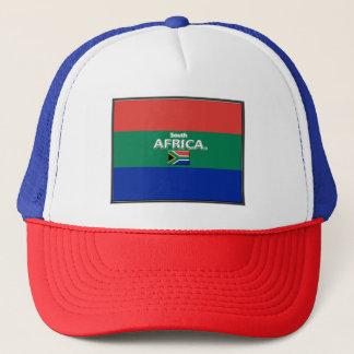 Casquette sud-africain de camionneur de drapeau de
