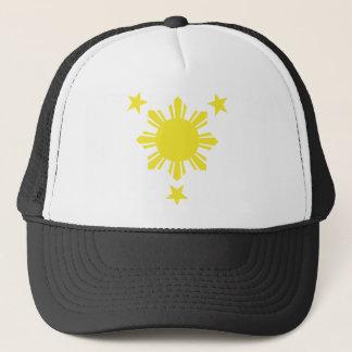 Casquette Sun de base philippin et étoiles - jaune