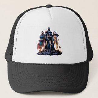 Casquette Superman, Batman, et trinité de femme de merveille