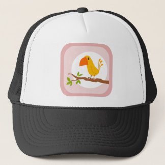 Casquette sweet yellow bird, oiseau jaune doux